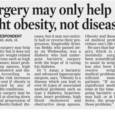 Surgery may only help fight obesity, not diseases
