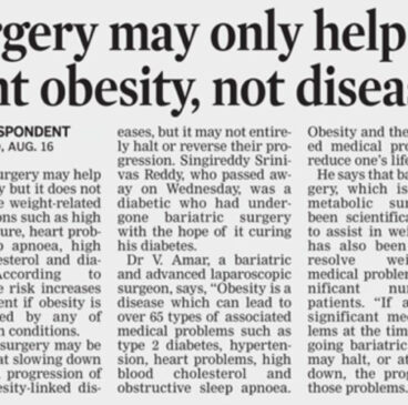 obesity surgery in Hyderabad Dr V AMAR